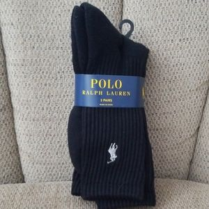3 PR. POLO RALPH LAUREN SOCKS